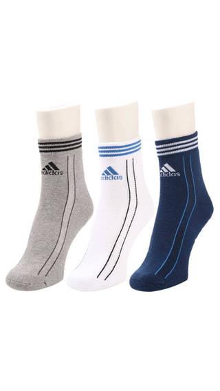 Adidas Unisex Ankle Length Socks   3 Pairs