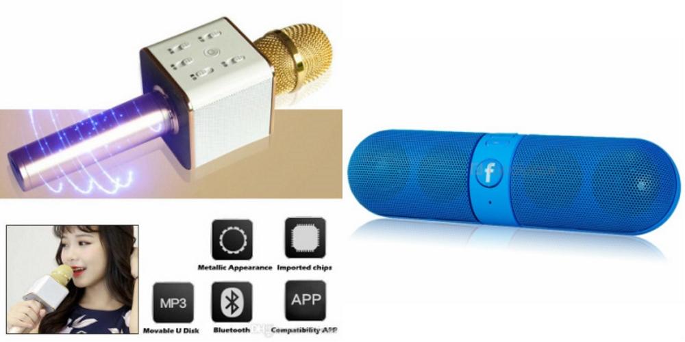 Mirza Q7 Portable Wireless Karaoke Microphone Handheld Condenser Microphone Inbuilt Speaker Microphone and bluetooth speaker  Facebook Speaker ,Facebook Portable Bluetooth Mobile/Tablet Speaker   for SONY xperia zl2