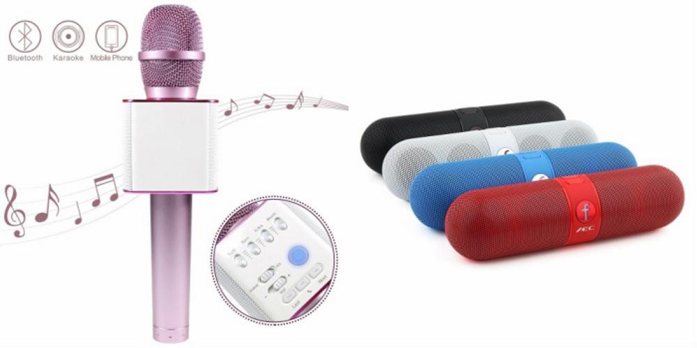 Mirza Q7 Portable Wireless Karaoke Microphone Handheld Condenser Microphone Inbuilt Speaker Microphone and bluetooth speaker  Facebook Speaker ,Facebook Portable Bluetooth Mobile/Tablet Speaker   for SAMSUNG GALAXY S DUOS 3