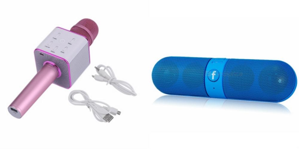 Mirza Q7 Portable Wireless Karaoke Microphone Handheld Condenser Microphone Inbuilt Speaker Microphone and bluetooth speaker  Facebook Speaker ,Facebook Portable Bluetooth Mobile/Tablet Speaker   for SAMSUNG GALAXY STAR 2