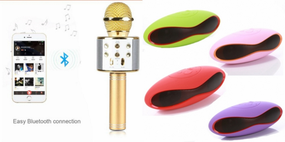 Mirza Q7 Portable Wireless Karaoke Microphone Handheld Condenser Microphone Inbuilt Speaker Microphone and bluetooth speaker  Ru gby Speaker , Ru gby Style Bluetooth Wireless Calling Speakers   for LENOVO vibe k4 note