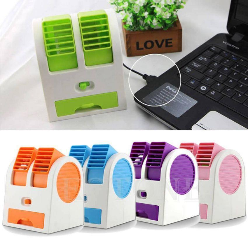 USB Mini Fan Cooling Portable Desktop Dual Bladeless Small Air Conditioner Water Mini Air Cooler and Air Conditioner