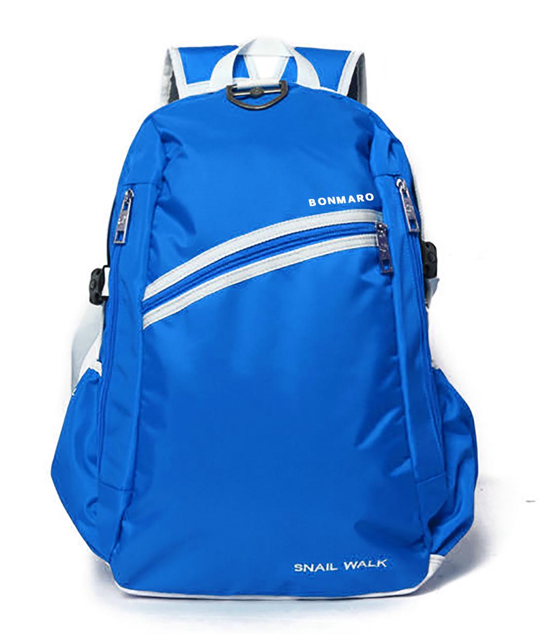 Bonmaro Snail Walk Blue Mid Size Backpack