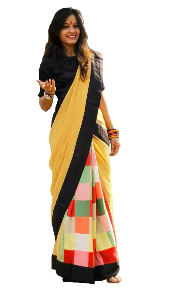 Shree Rajlaxmi Sarees Multicolor Art Silk Printed Saree With Blouse