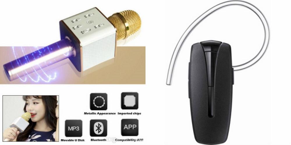 Mirza Q7 Portable Wireless Karaoke Microphone Handheld Condenser Microphone Inbuilt Speaker Microphone and Bluetooth Headset  HM 1100 Bluetooth Headset, Wireless Music Bluetooth Headset With Mic for MOTOROLA ex226