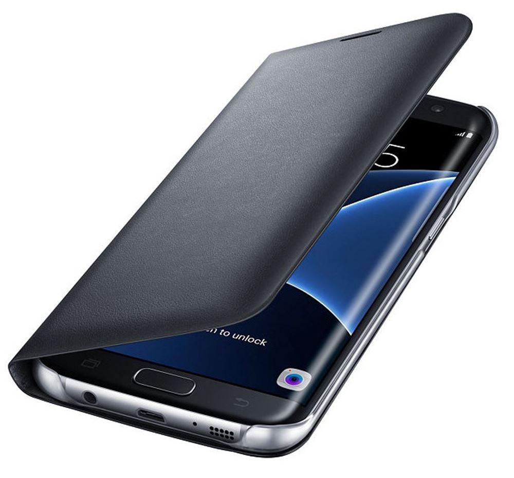 Samsung Galaxy J7 Pro Premium Hi Grade Black Leather Flip Cover