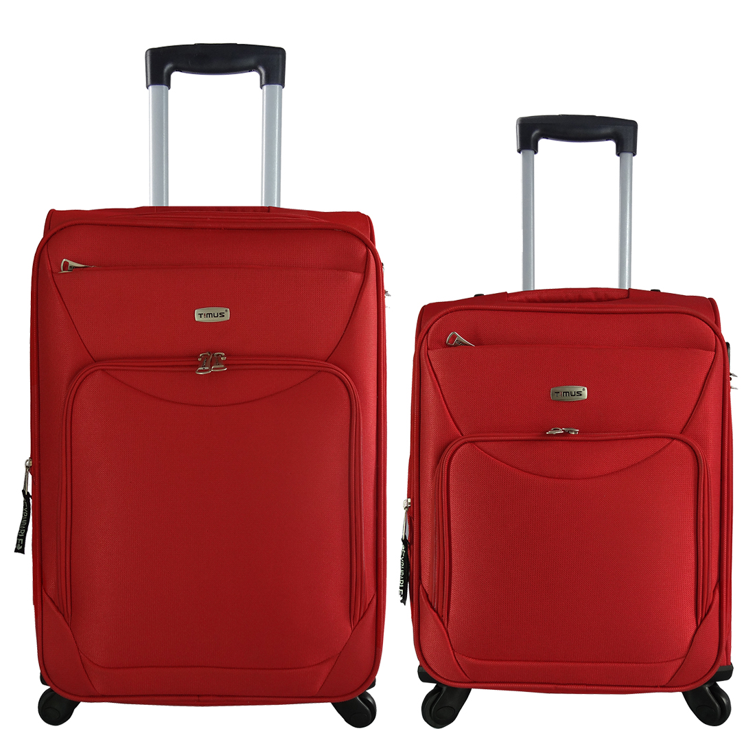 Timus Upbeat Spinner Red 55   65 Cm 4 WheelTrolleySuitcase ExpandableCabin And Check In Luggage  24 Inch  Red
