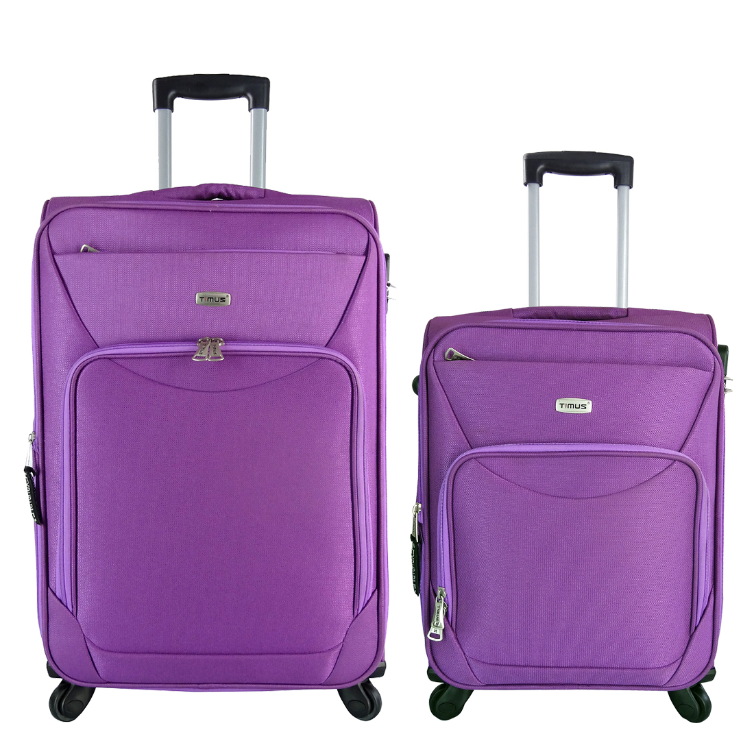 Timus Upbeat Spinner Wine 55   65 Cm 4 Wheel Trolley Expandable Cabin And Check In Luggage 24 Inch  Purple