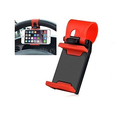 KSJ Universal Mobile Car Steering Wheel Holder   Assorted Color