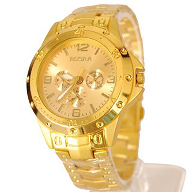 i DIVA'S Rosra Watches For Men  Golden Watch By HansHouse