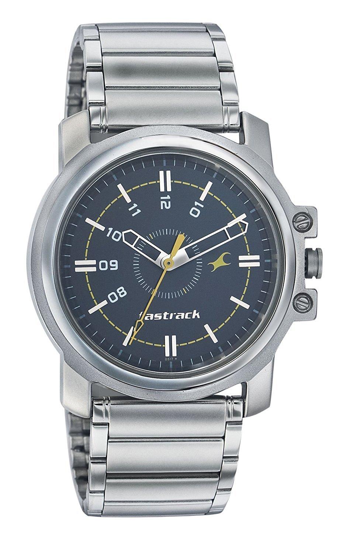 Fastrack Analog Black Dial Men's Watch   3039SM02