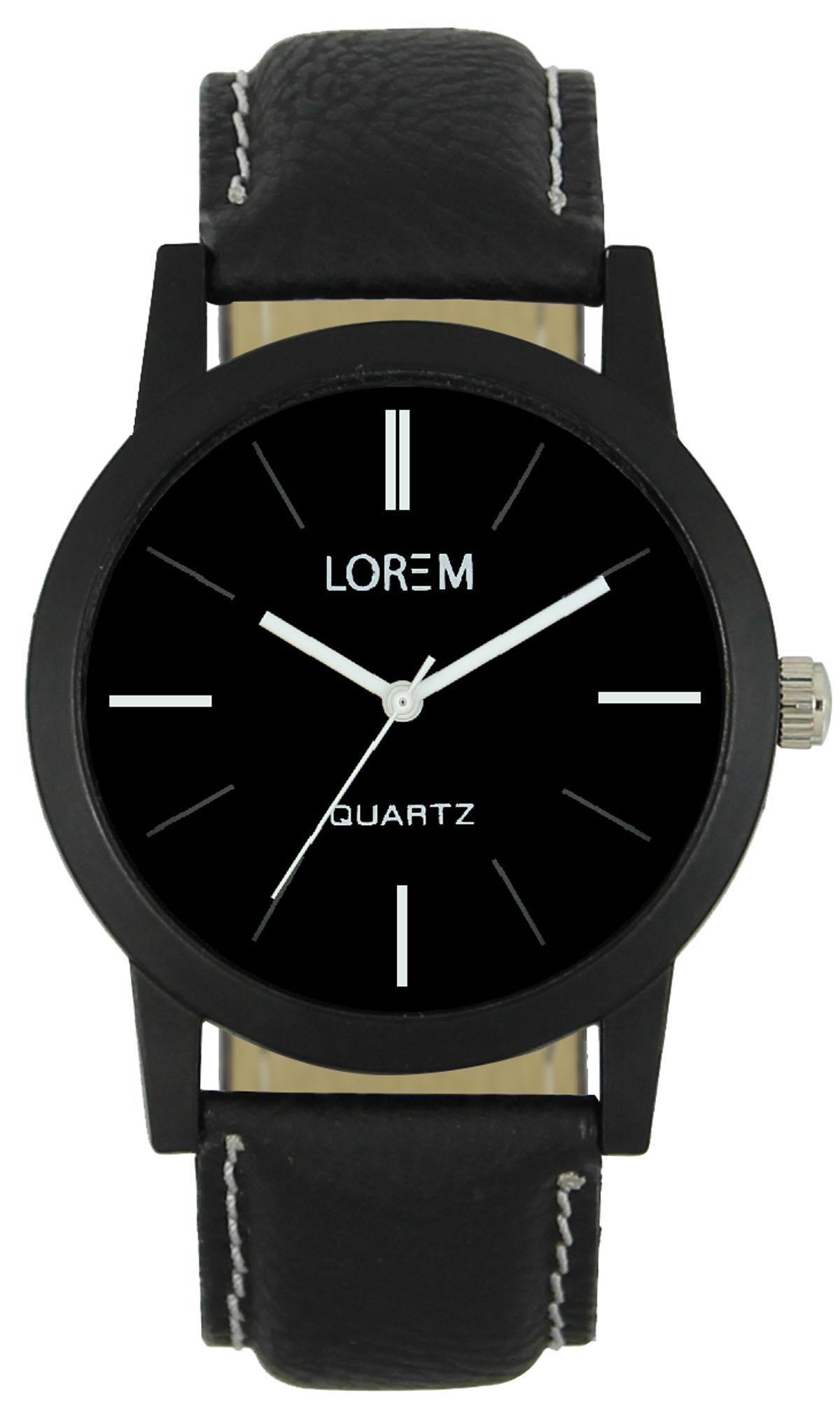 lorem black man anaog watch