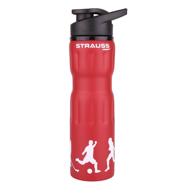 Strauss Stainless Steel Water Bottle, 750ml  Red