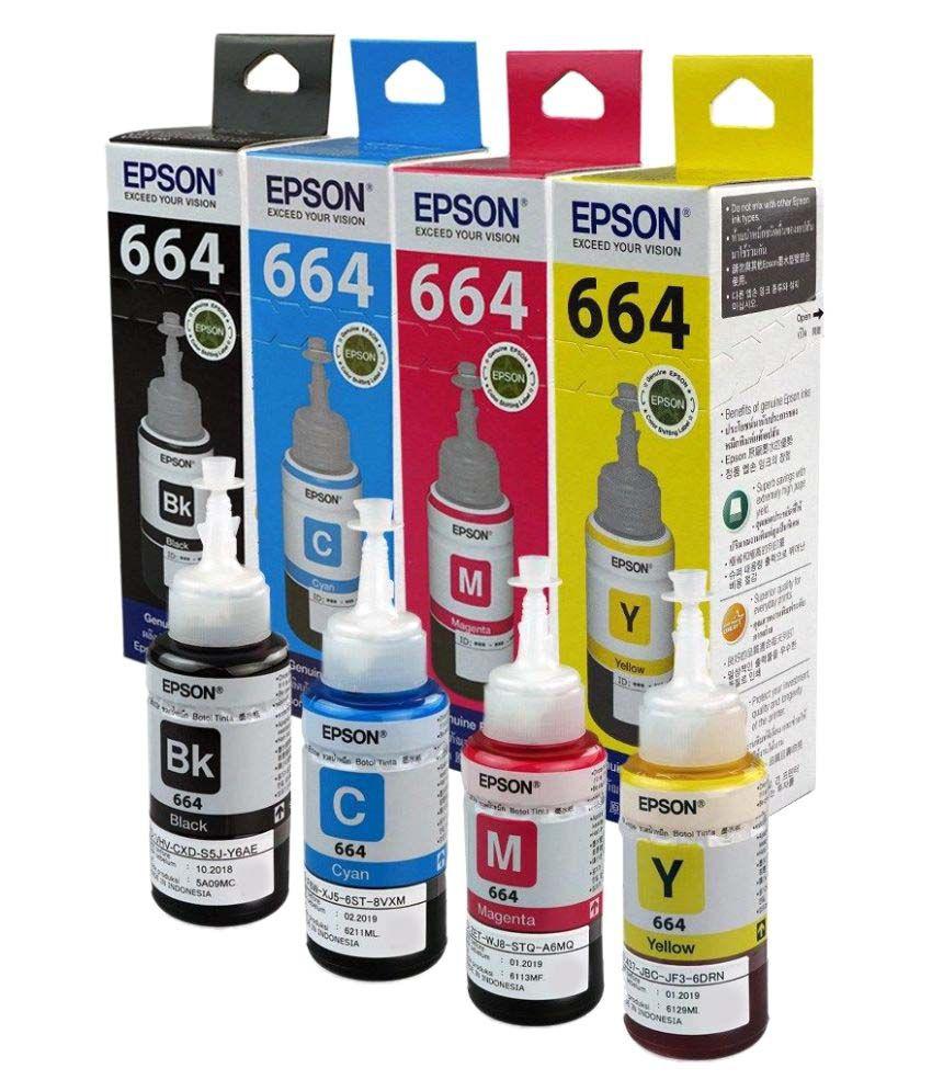 Original Epson T664 Original Multicolor Ink