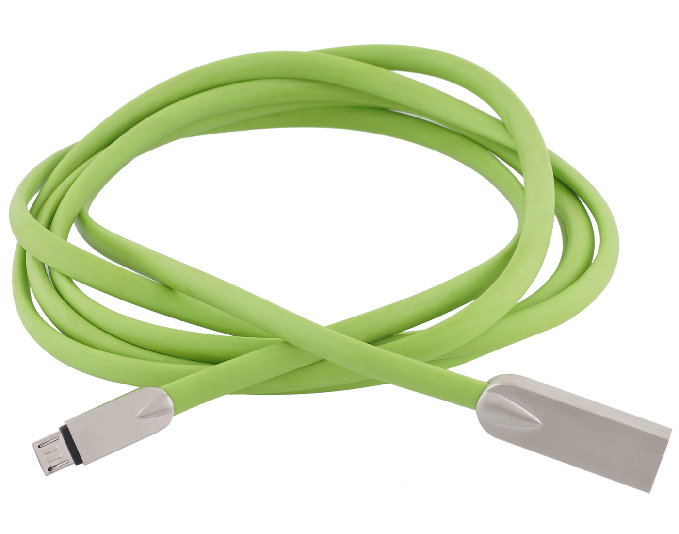 POSHIRE 1.8 mtr  6 ft  long Zinc Alloy braided Micro USB Cable 2.4A USB Cable  Green
