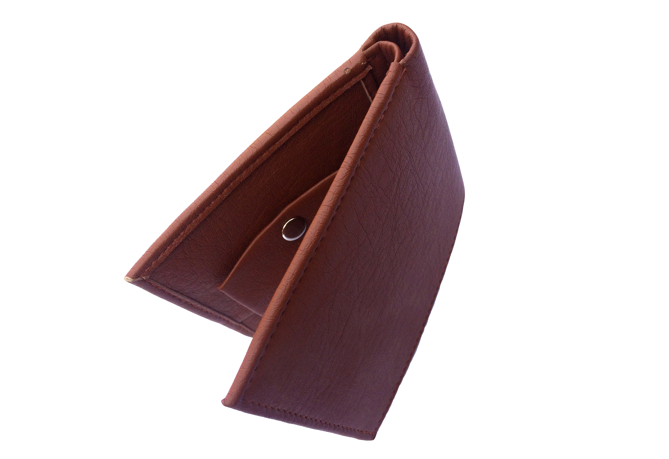 Men Brown Artificial Leather Wallet  Synthetic leather/Rexine