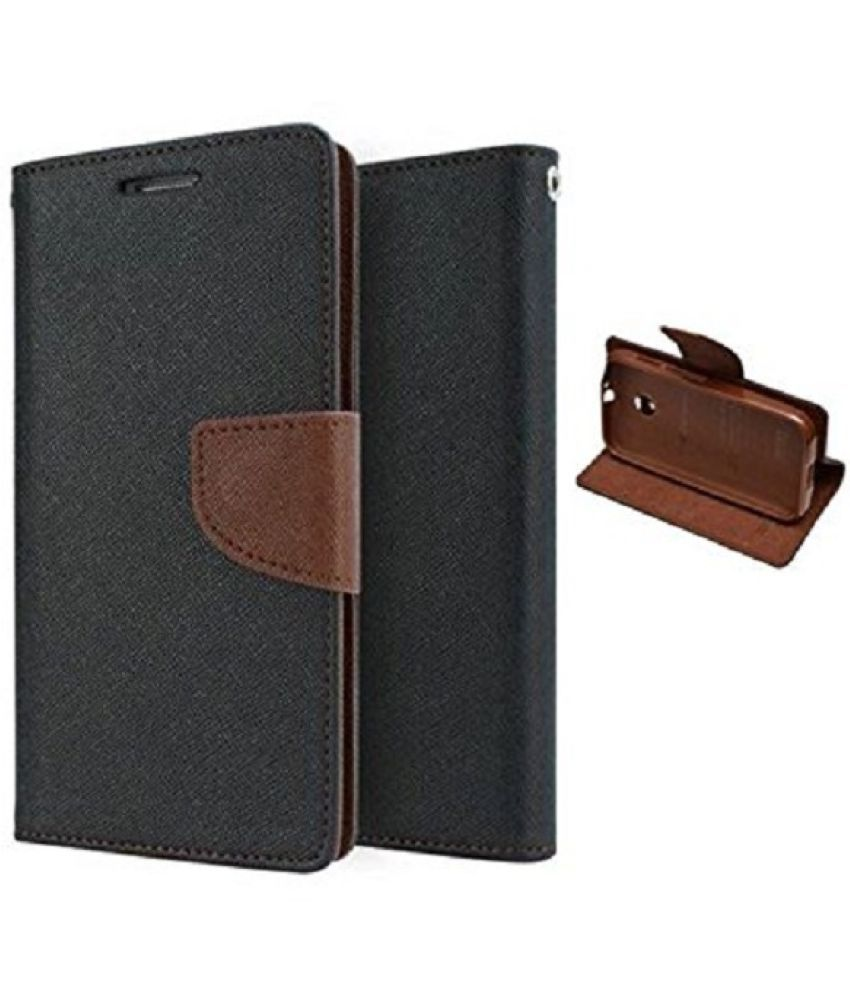 Samsung Galaxy J7 Prime Flip Cover by Sastaoutlet   Brown
