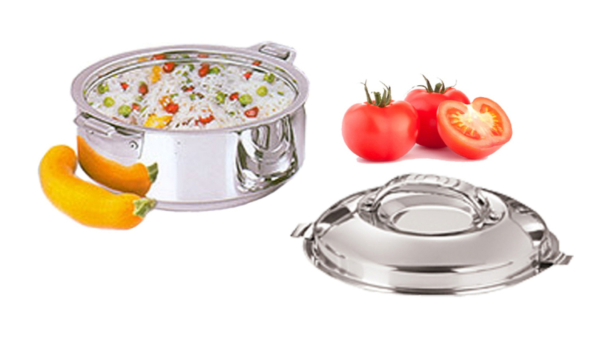 Kuber Industries Casserole/HotPot,chapati box/chapati container/hot case in Stainless Steel 5000 ML  Cass75