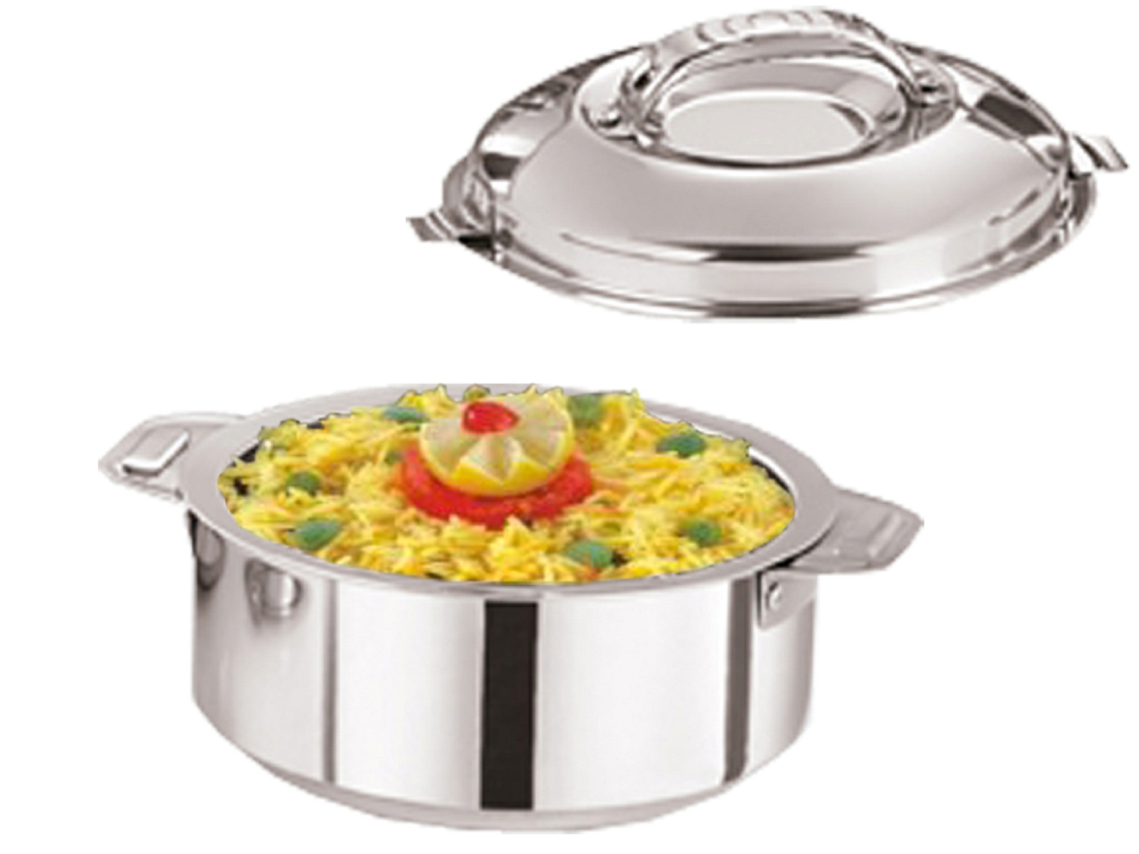 Kuber Industries Casserole/HotPot,chapati box/chapati container/hot case in Stainless Steel 4000 ML  Cass51