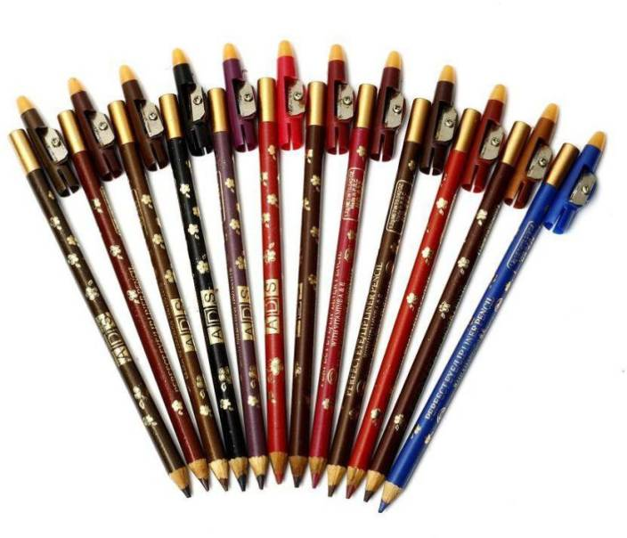 High Fly ADS Perfect Eye /Lip Liner Multicolore Pencil Set  Pack Of 12  20.4 g  Multicolor