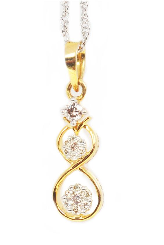 Anaira's Diamond Jewellery 14Kt BIS Hallmarked Diamond Pendant