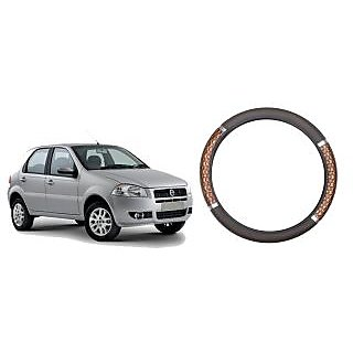 Vheelocity Wodden Design Car Steering Cover for Fiat  Palio