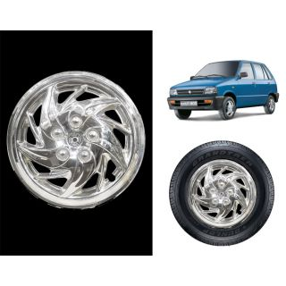 Vheelocity C5 - 12 Chrome Wheelcap / Wheelcover For Maruti 800