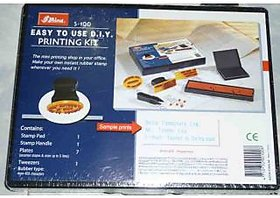 Rubber Stamp Easy To Use DIY Printing Kit