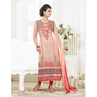 Gorgeous Party Wear Salmon Georgette (Unstitched)