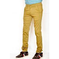 Routeen Men's Brown Regular Fit Formal Trousers
