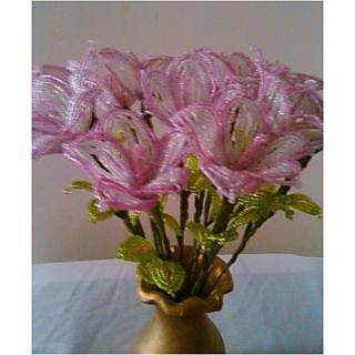Seed beads flower bouquet
