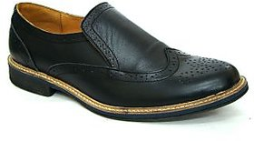 Leather Slip On Brogue Shoe.