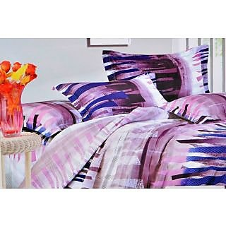 Valtellina Delicate Ribbon Print Double Bed Sheet (DY-015)