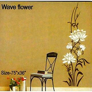 wave flower stencils tool