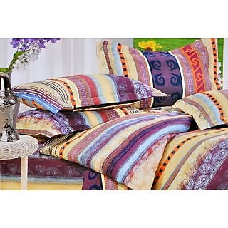 Valtellina Classy Colorful Vine Print Single Bed Sheet (DYS-013)