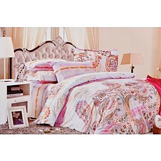 Valtellina Traditional Summer Print Double  Bed Sheet (MY-010)