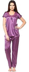 Sukuma PURPLE 2 Pc Satin Night Wear