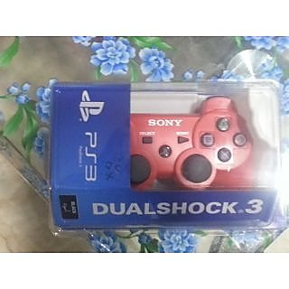 ps3 controller dualshock 3 red color