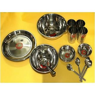 Stainless Steel Dinner Set Of 24 Pcs