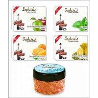 4 Different Hookah Flavours 50 Grams Each + Free 1 X 50 Gram Hookah Gel Flavour 003A