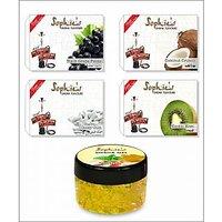 4 Different Hookah Flavours 50 Grams Each + Free 1 X 50 Gram Hookah Gel Flavour 003E