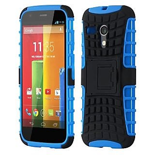 Envy Super Grip Case For Motorola Moto G (Blue)