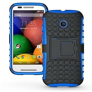 Envy Super Grip Case For Motorola Moto E (Blue)