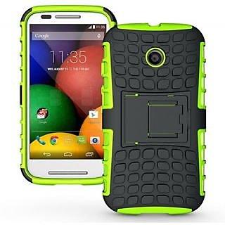 Envy Super Grip Case For Motorola Moto E (Green)