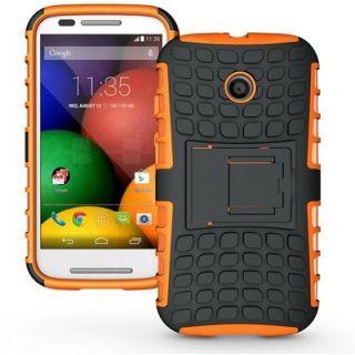 Envy Super Grip Case For Motorola Moto E (Orange)
