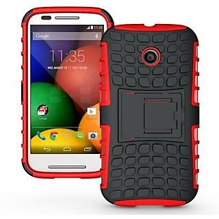 Envy Super Grip Case For Motorola Moto E (Red)