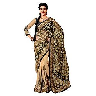 Alira Multicolor Raw Silk Self Design Saree With Blouse