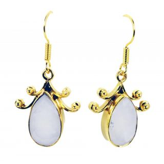 Riyo Superbstar White Agate Earring GPEAGE-0004