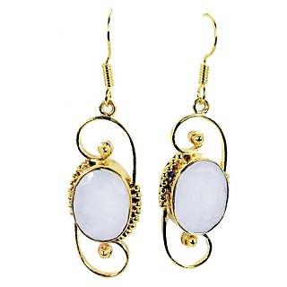 Riyo Sublimestar White Agate Earring GPEAGE-0005