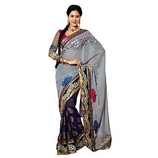Alira Gold & Black Raw Silk Self Design Saree With Blouse